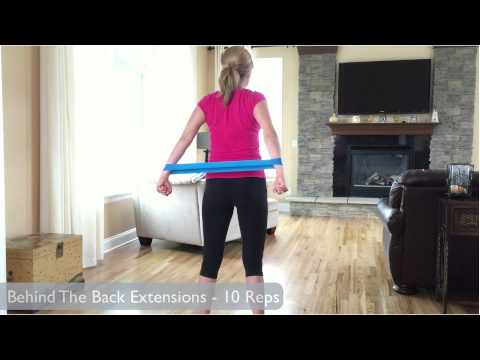 Resistance Band Loop Exercises – Upper Body Workout