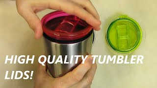 ljy tumbler lid yeti rambler rtic tumblers 30 oz 3 pack red green transparent