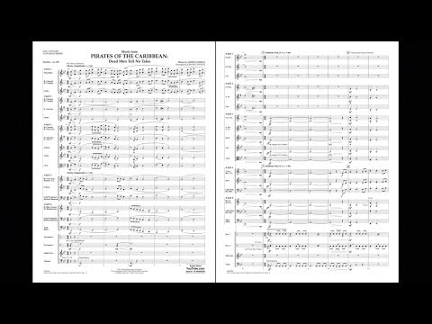 Music from Pirates of the Caribbean: Dead Men Tell No Tales by Zanelli/arr. Vinson
