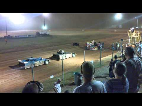 schaeffers ultimate series rambo victory speech at modoc speedway july 27 2015