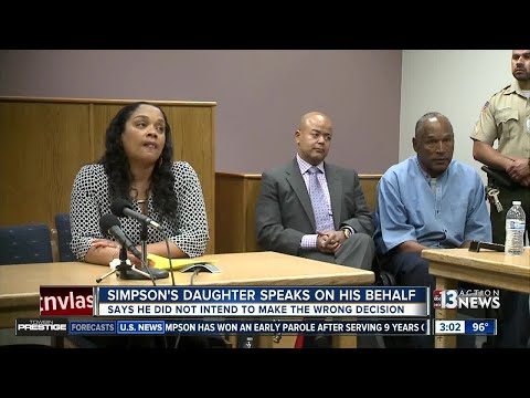 O.J. Simpson's daughter speaks on behalf of her father