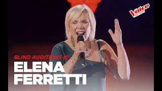 "Elena Ferretti  ""Ti sento"" - Blind Auditions #1 - The Voice Senior"