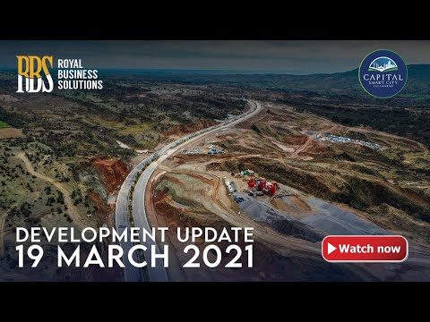 Development Update of Capital Smart City Islamabad   4K   Aerial Shots   19-March-2021