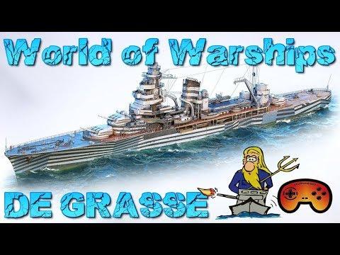 Krom zeigt euch die DE Grasse - World of Warships - Gameplay - German/Deutsch - DE GRASSE Wows