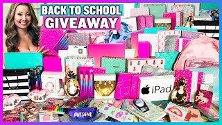 BIGGEST Back to School GIVEAWAY in the World! + BTS School Supplies Haul! (2018 Subscriber Giveaway)