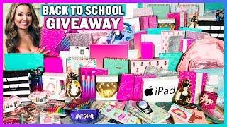BIGGEST Back to School GIVEAWAY in the World! + BTS School Supplies Haul! (2018 Subscriber Giveaway)