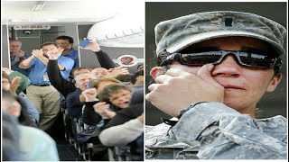 Passenger Gives Up First Class Seat For A Soldier   Then This Happened