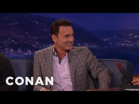 Julian McMahon Was Born Wearing A Speedo   CONAN on TBS