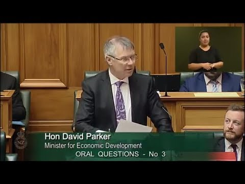 Question 3 - Hon Paul Goldsmith to the Minister for Economic Development