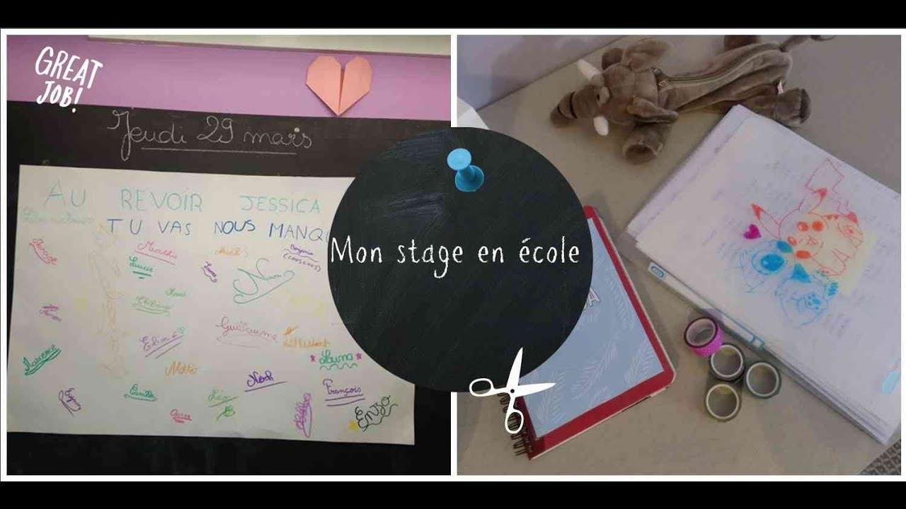 Mon stage en école primaire   Expériences, projet pro ...