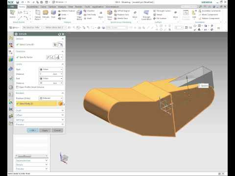 NX CAD | In Depth Video Tips - Basic Solid Modeling with NX 9