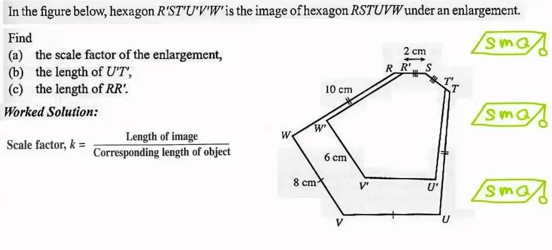 Enlargement And Reduction Of A Plane Figure By A Scale Factor