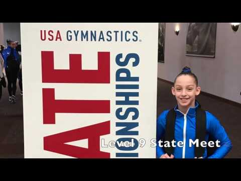 Madison Ulrich | Level 9 State Gymnastics Meet - YouTube