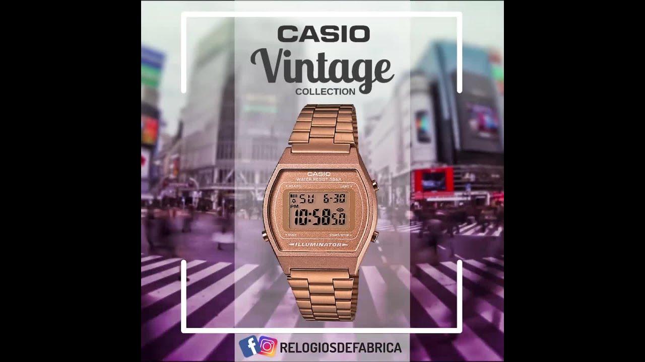 f4386515ec2 Relogio Unissex Casio Vintage ROSE Digital B640WC-5ADF - RELÓGIOS DE ...