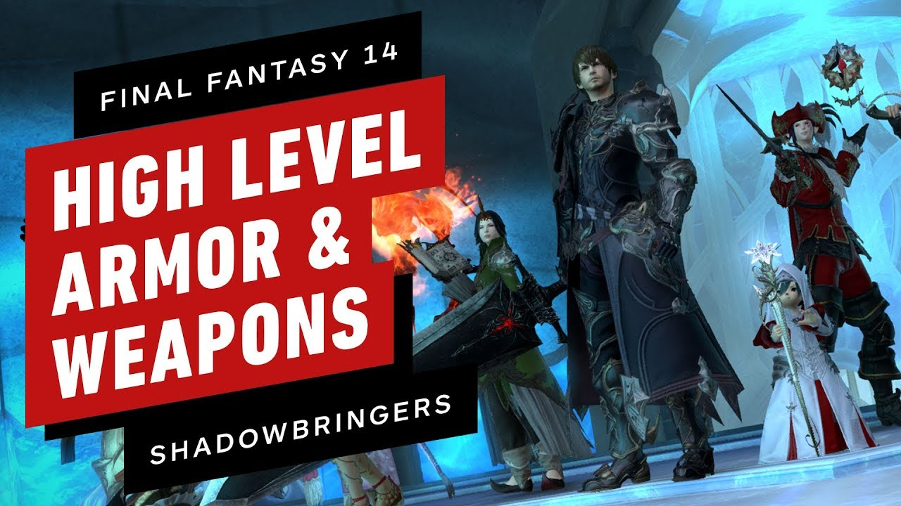 Final Fantasy XIV: High-Level Armor & Weapons from the Shadowbringers Demo