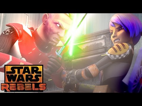 Sabine vs. Gar Saxon | Star Wars Rebels | Disney XD