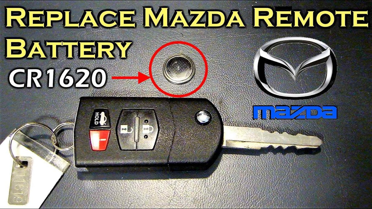 replace mazda remote battery - youtube