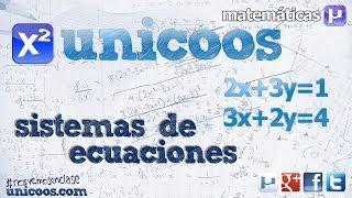 Sistema de ecuaciones - Metodo de igualacion 2ºESO incognitas unicoos matematicas