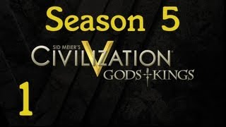 Civilization V Gods and Kings Let's Play (S-5) - Part 1: Kage and Kings