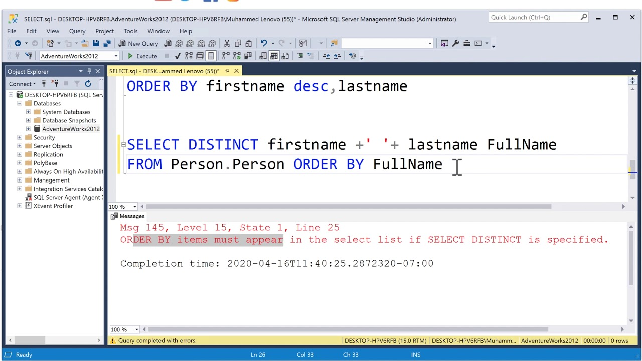 17 SQL concatenate columns & CONCAT function Microsoft SQL Server - YouTube