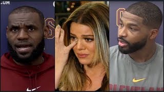"Lebron james curses out tristan thompson, khloe kardashian, & ""kuwtk"" camera crew!"