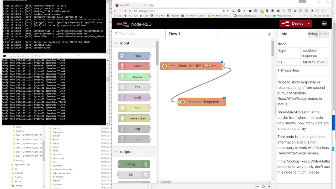 node red contrib modbus demo by sirockin