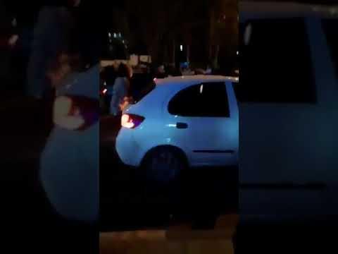 Iran: Video filmed Jan. 12, 2020 on Tehran's Azadi Street shows two women injured