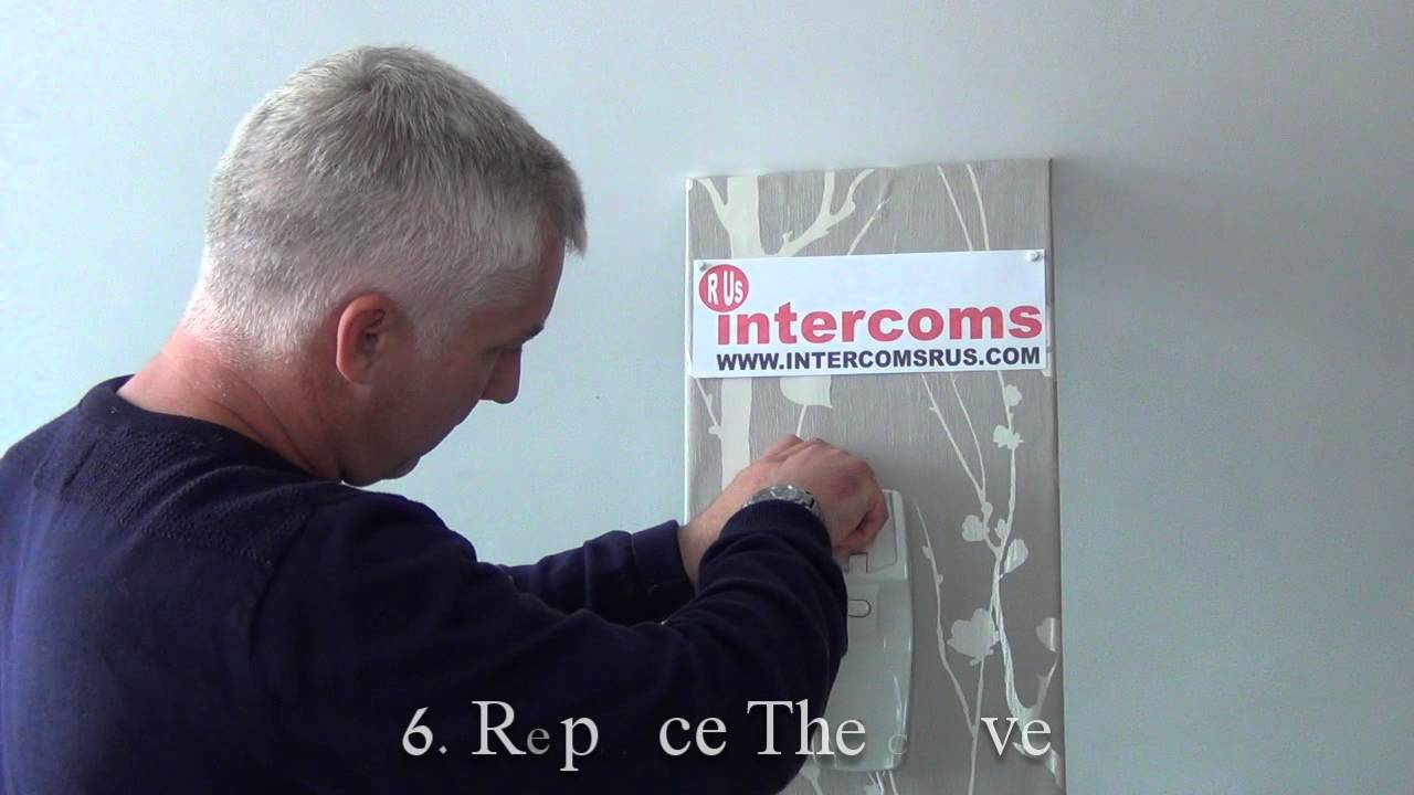 Changing a door entry handset. The Bell 801 - YouTube
