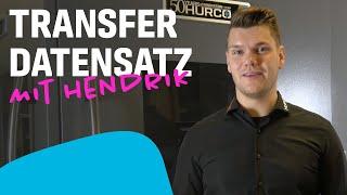 Tutorial - Transfer Datensatz