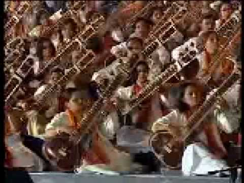 First time ever in the World, a Grand Symphony of a 1000 Sitarists - Raag Hansadhwani