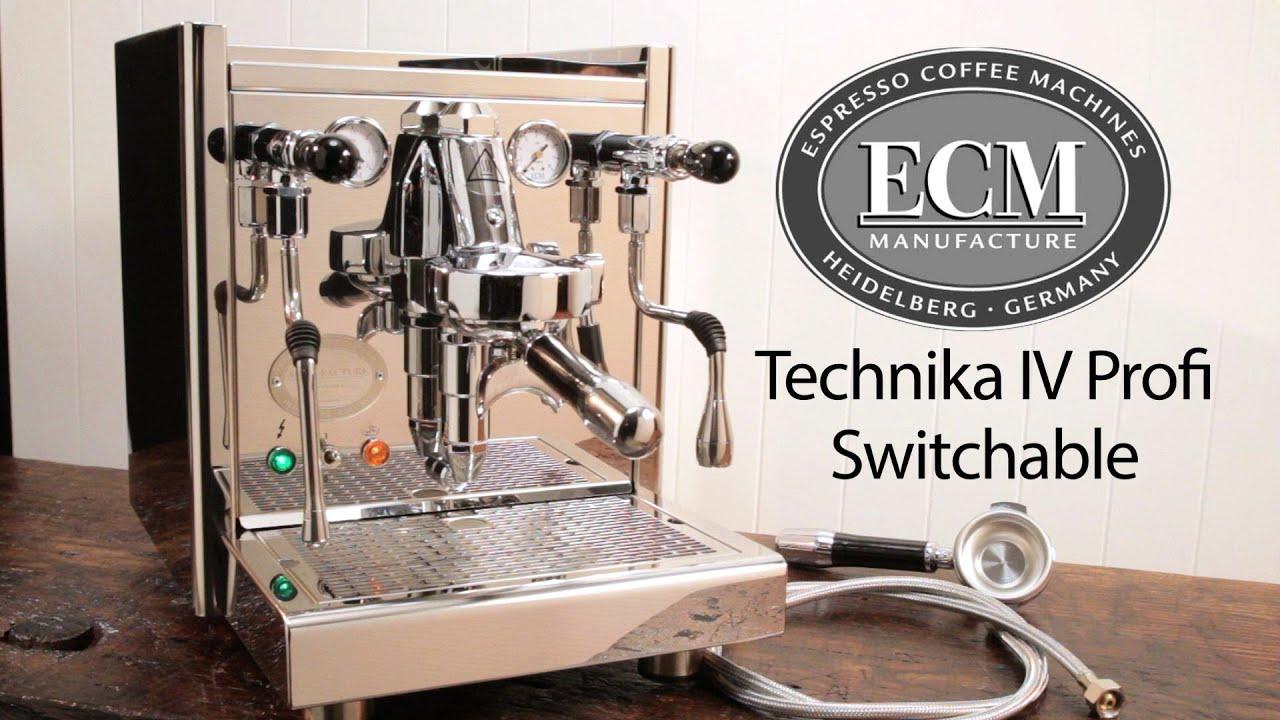 Ongebruikt In-Depth: ECM Technika IV Profi Switchable Espresso Machine - YouTube IT-13
