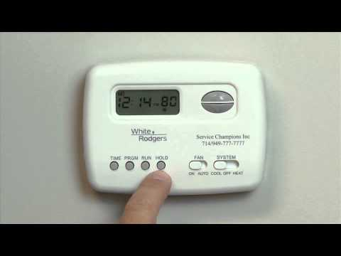 White Rodgers Thermostat 1F78 - Service Champions - YouTube