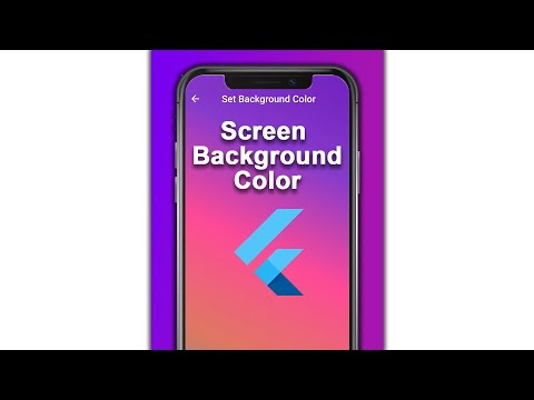 Flutter Preview - Set Screen Background Color In 7 Minutes: Color Hex, Background Color Grad #Shorts