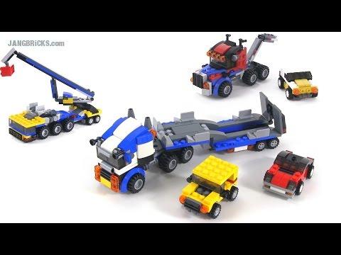 lego creator vehicle transporter all 3 builds set 31033 youtube. Black Bedroom Furniture Sets. Home Design Ideas