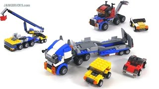 LEGO Creator Vehicle Transporter - all 3 builds! set 31033