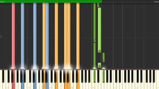 Never Gonna Be Alone - Nickelback , with Vocal party, Piano Tutorial  Synthesia
