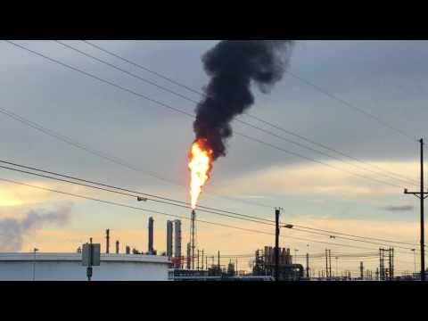 Flaring at Chevron Phillips, Port Arthur, Texas