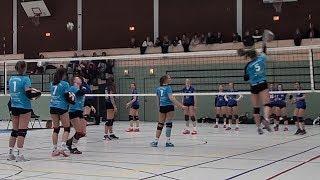 Волейбол. Нападающий удар. Девушки. U-18. Германия