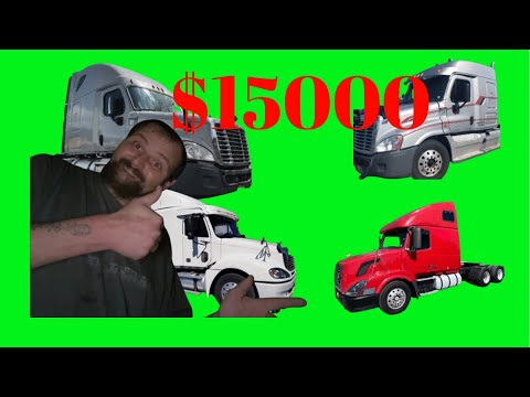 Cheap Semi truck for sale of all makes and models under $15000 #freightliner #peterbilt #kenworth