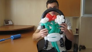 balloons vase, basket. Ваза из воздушных шаров, из шдм. Смотрите урок. Tulip balloon.