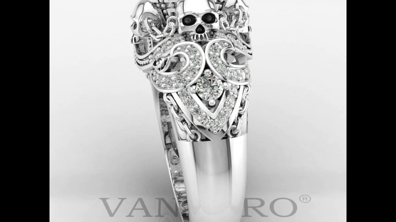 62deabc8e2 Four Skulls Punk Style Ring For Women by Vancaro Jewelry