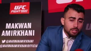 Interview with Makwan Amirkhani ahead of UFC London