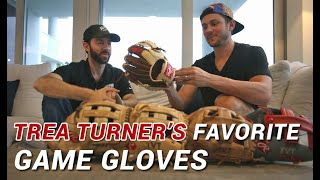 Trea Turner Shows WPW His Favorite Game Gloves (and Bat) thru his Career