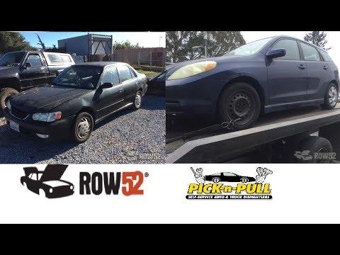 Moss Landing Pick N Pull Corolla Matrix Junk Yard Parts Hunt 8 15 17