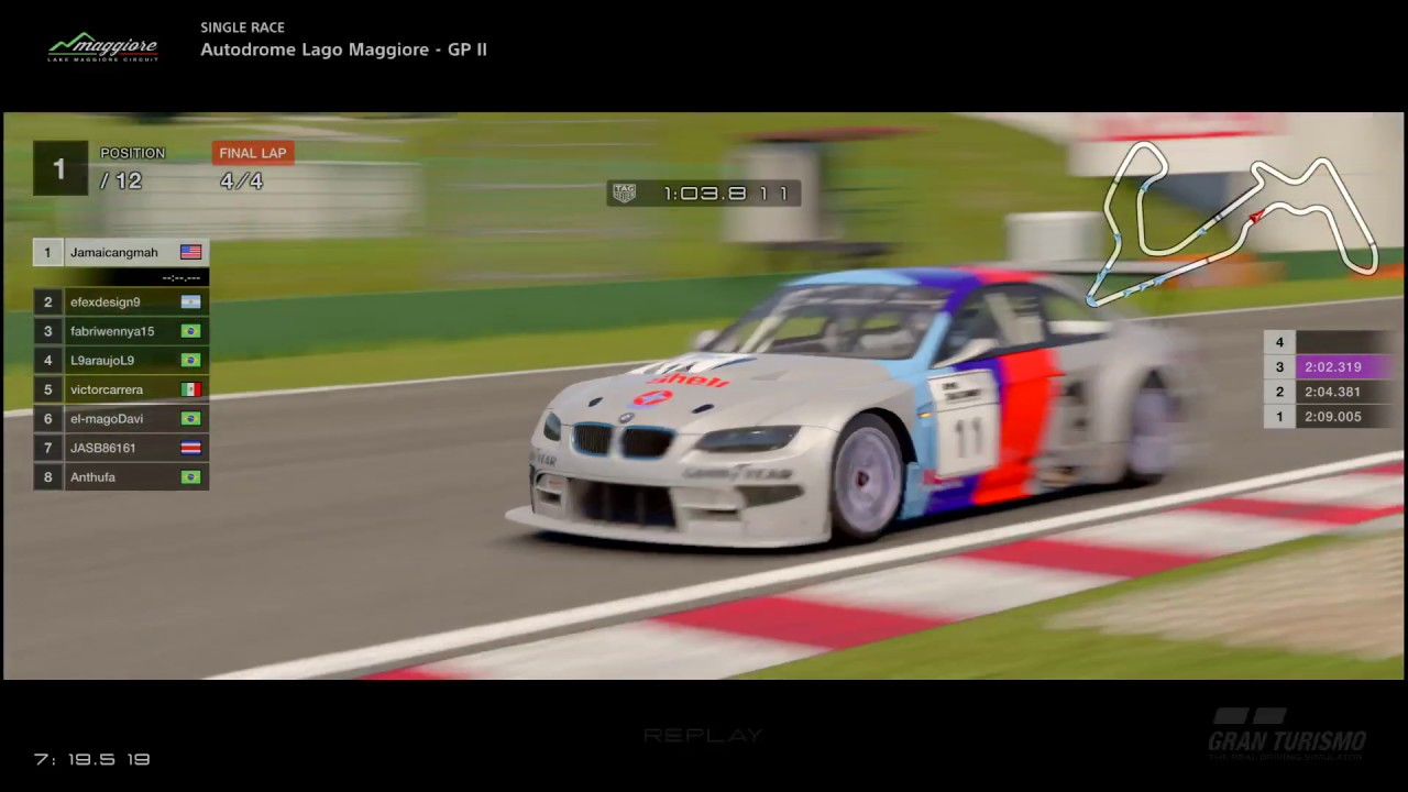 Gran Turismo Sport Online - Autodrome Lago Maggiore GP II - BMW M3 GT Gr3  (Learning my Beast)