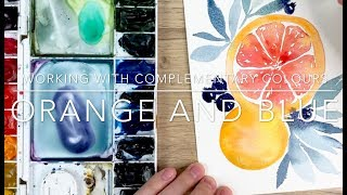 Working With Complementary Colours: BĮue and Orange