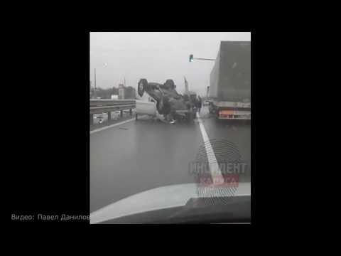 Последствия смертельного ДТП в Головтеево на платной трассе