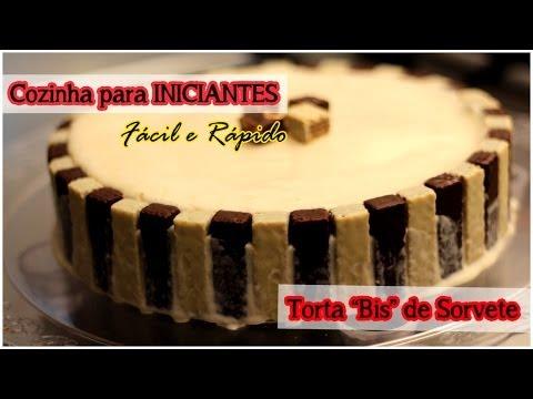 Torta de Bis e Sorvete (Fácil e Rápido): Cozinha para Iniciantes #tododia21