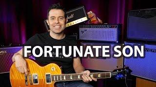 Cómo tocar Fortunate Son de CCR en guitarra ¡Completo!  | Guitarraviva