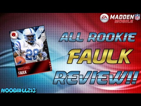Madden Mobile 16 All Rookie Marshall Faulk Gameplay & Review!!